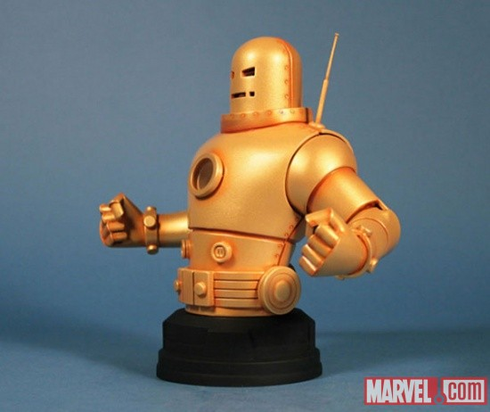 IRON- MAN  MARK II GOLD ARMOR MINI BUST GENTLE GIANT IRON_MAN_MARK_II_2