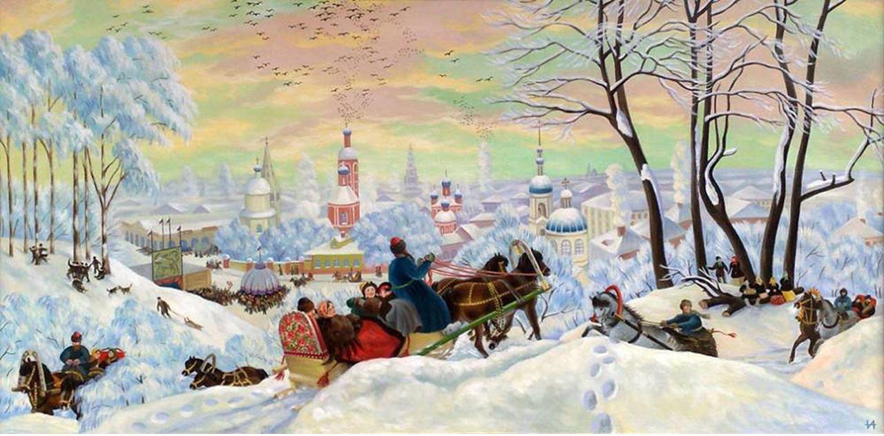 Борис Кустодиев Kustodiev_maslenniza