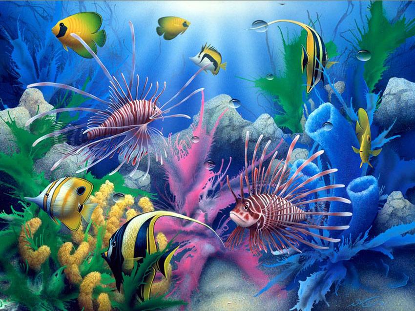 Omaž ribolovcu i ribolovu - Page 4 Fish-painting_Lions-of-the-Sea