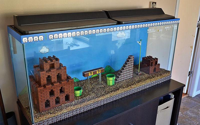 Décorations 80's & 90's Aquarium-super-mario-bros-a-faire-soi-meme