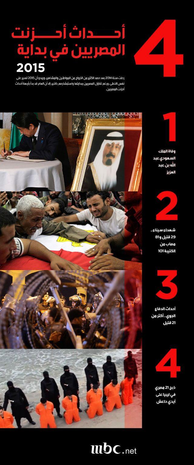 انفوجرافيك.. 4 أحداث أحزنت المصريين في بداية 2015  4