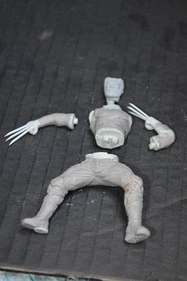 Sculpture Wolverine 75mm jour d'un avenir passé Wolverine.75mm.30