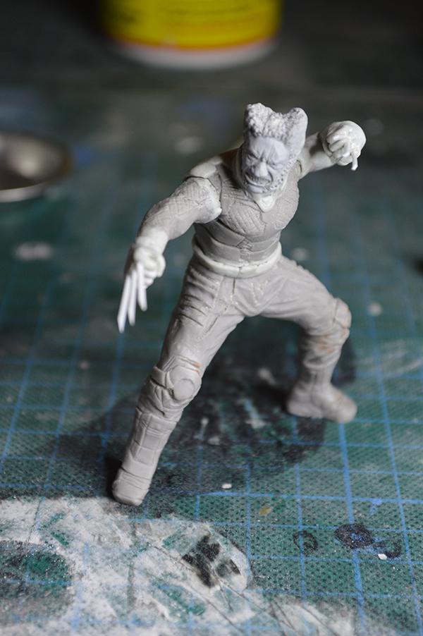 Sculpture Wolverine 75mm jour d'un avenir passé Wolverine.75mm.32