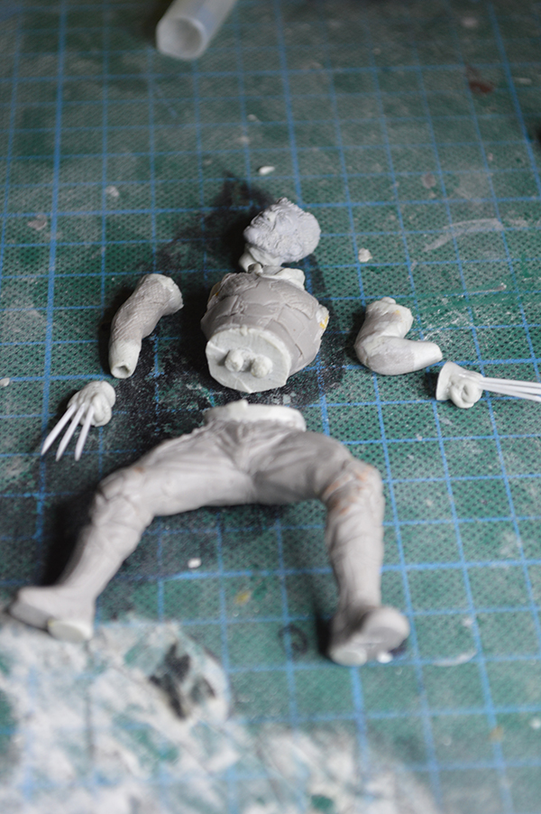 Sculpture Wolverine 75mm jour d'un avenir passé Wolverine.75mm.35