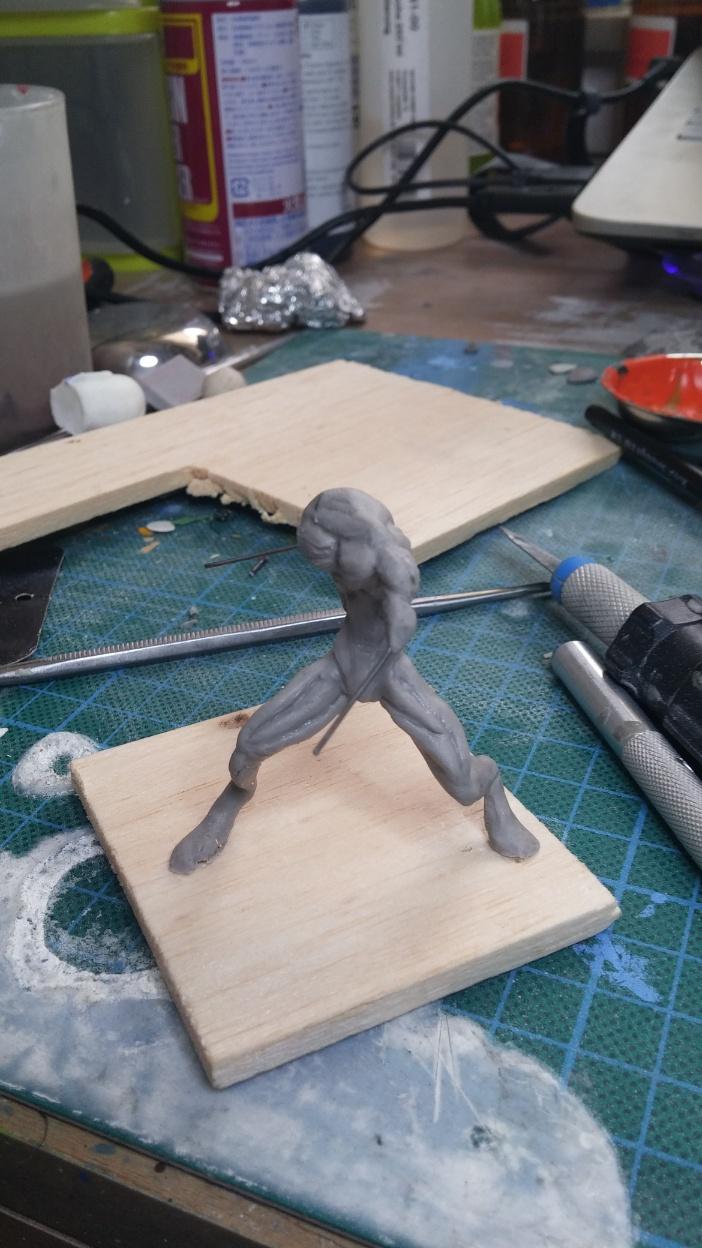 Mutant Velociraptor 6cm MiniSculpture06