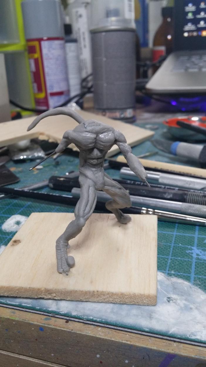 Mutant Velociraptor 6cm MiniSculpture16