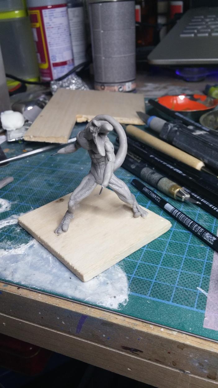 Mutant Velociraptor 6cm MiniSculpture22