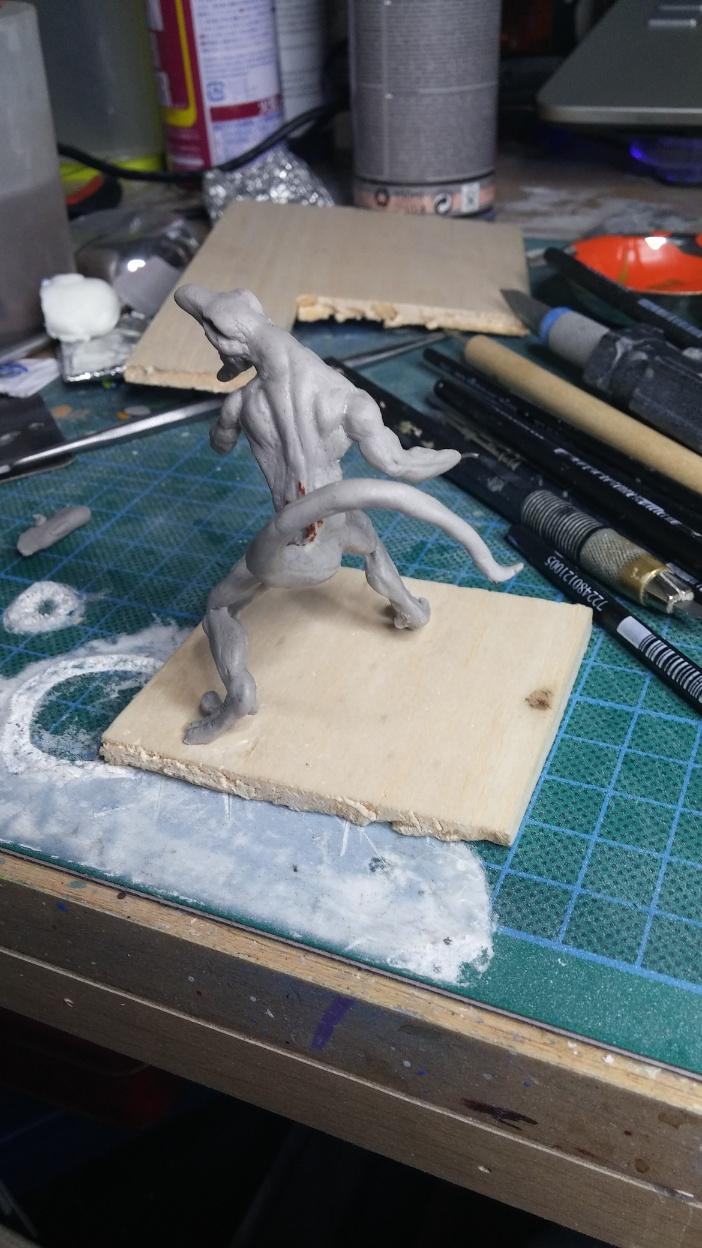 Mutant Velociraptor 6cm MiniSculpture23