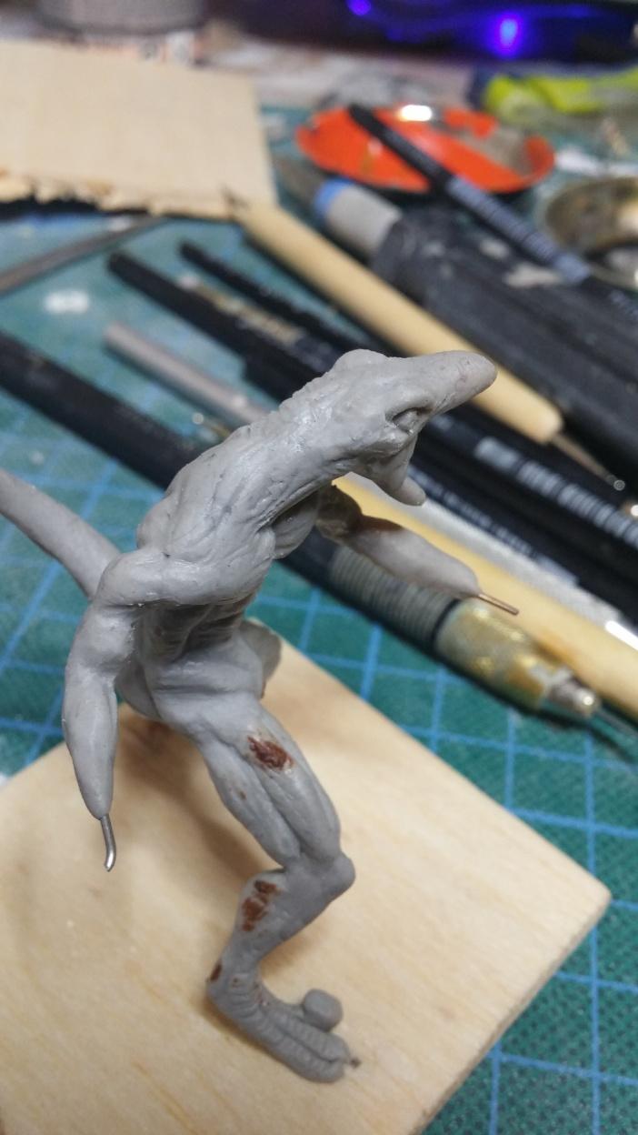 Mutant Velociraptor 6cm MiniSculpture29