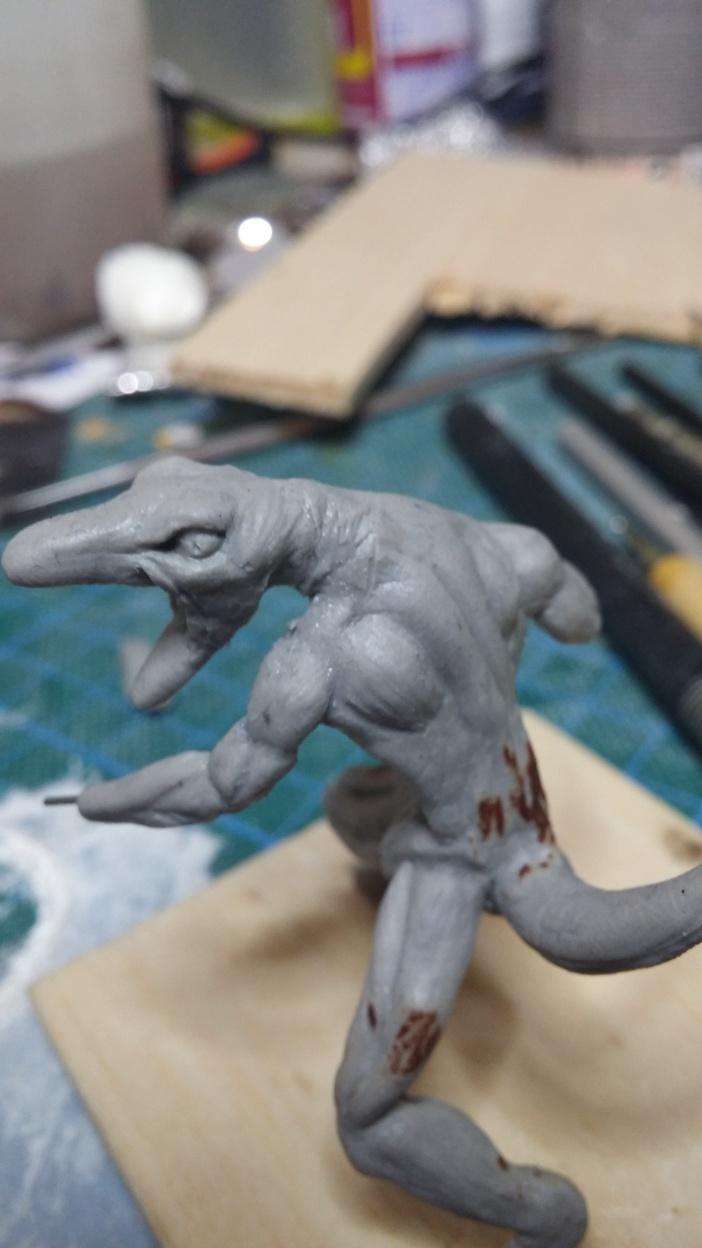 Mutant Velociraptor 6cm MiniSculpture32