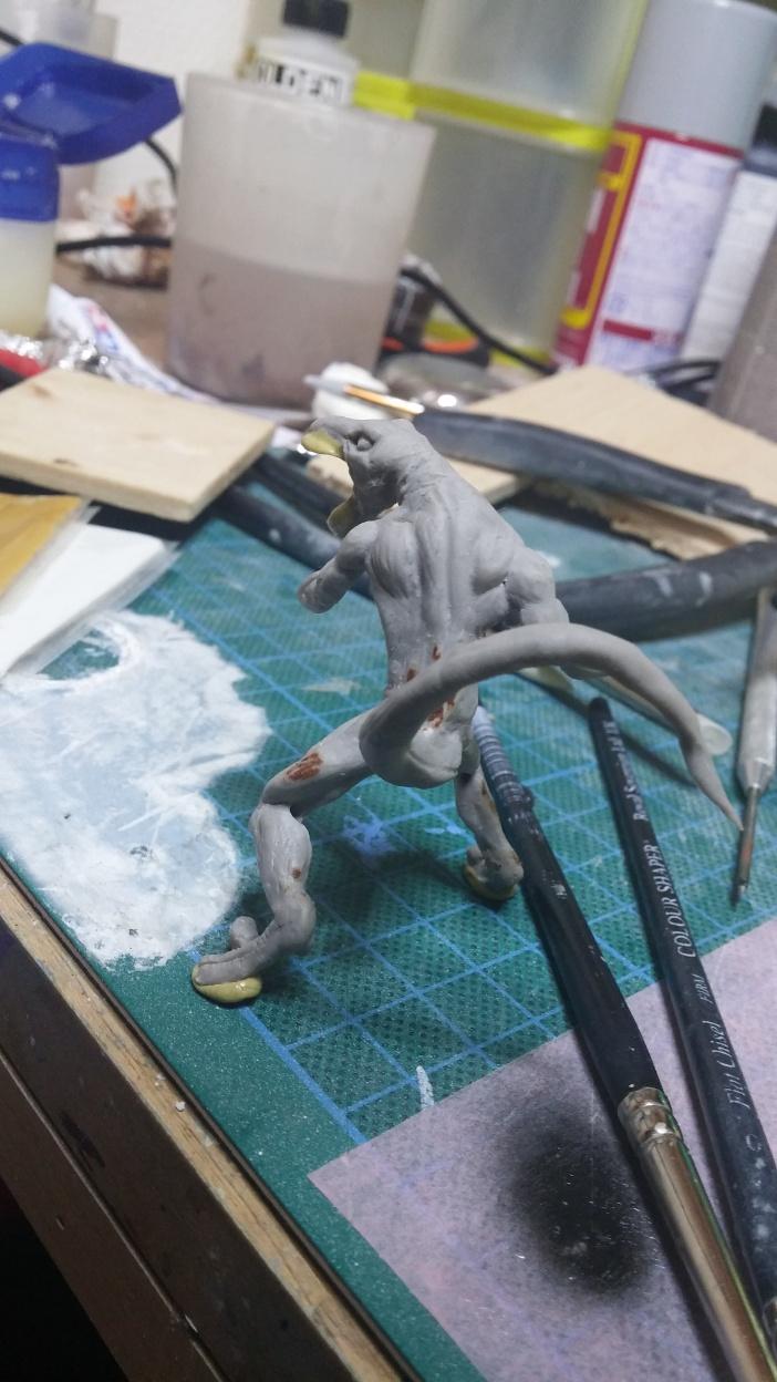 Mutant Velociraptor 6cm MiniSculpture35