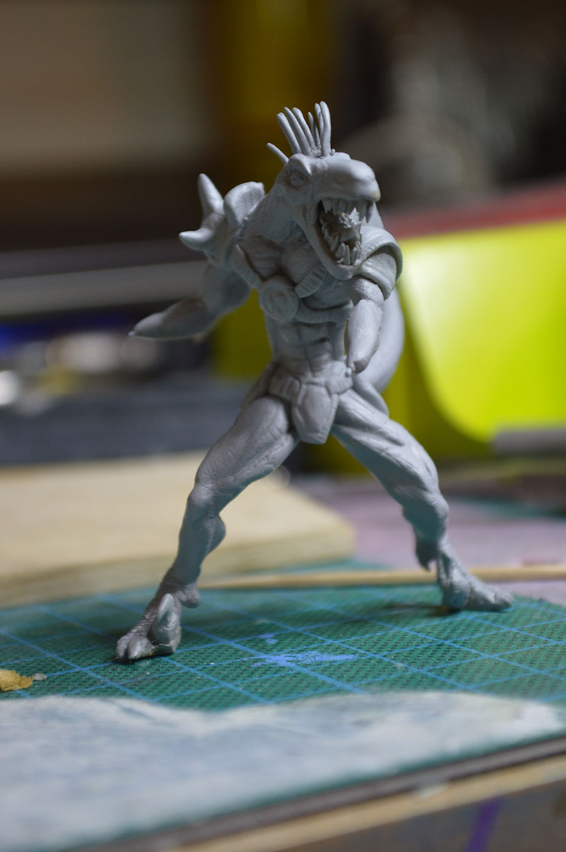 Mutant Velociraptor 6cm MiniSculpture43