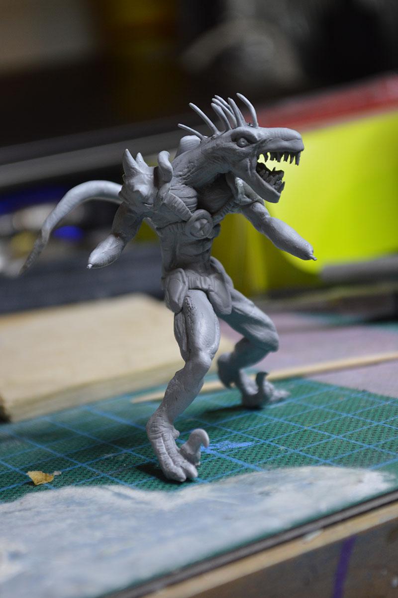Mutant Velociraptor 6cm MiniSculpture45
