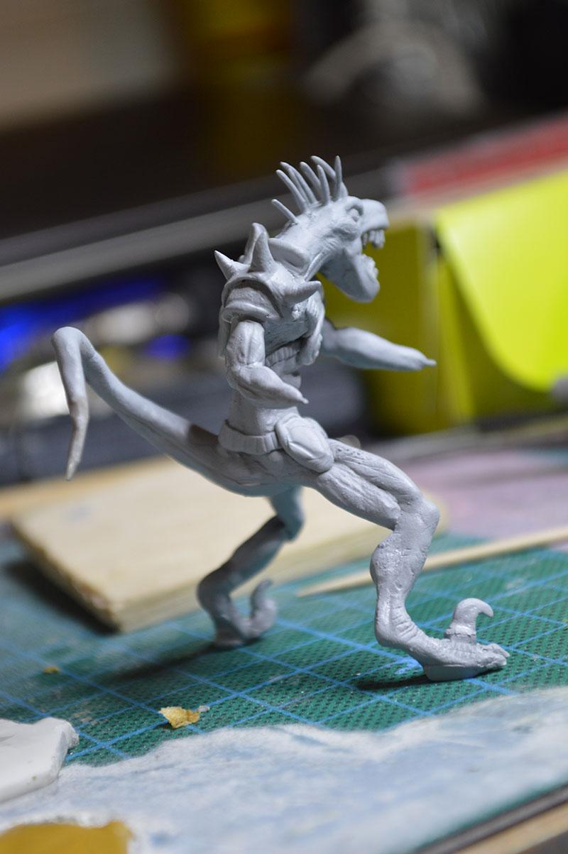 Mutant Velociraptor 6cm MiniSculpture46