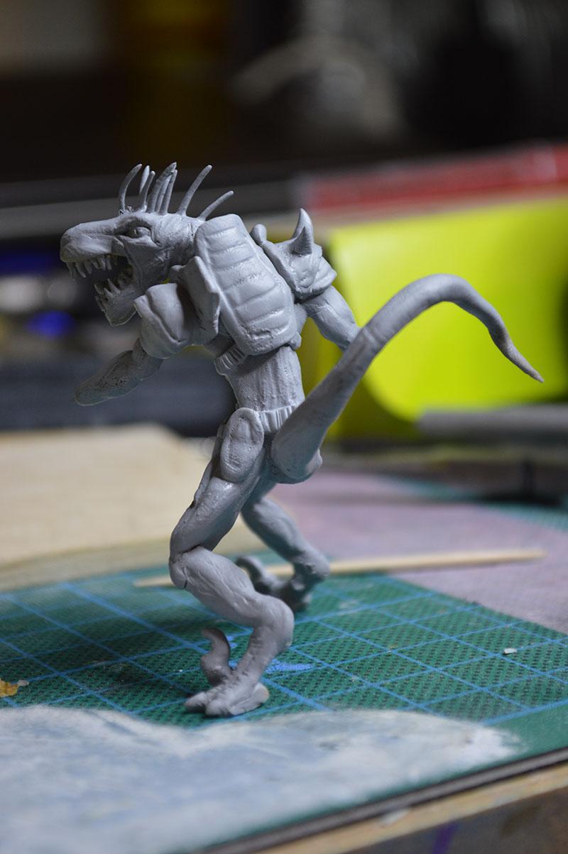Mutant Velociraptor 6cm MiniSculpture48