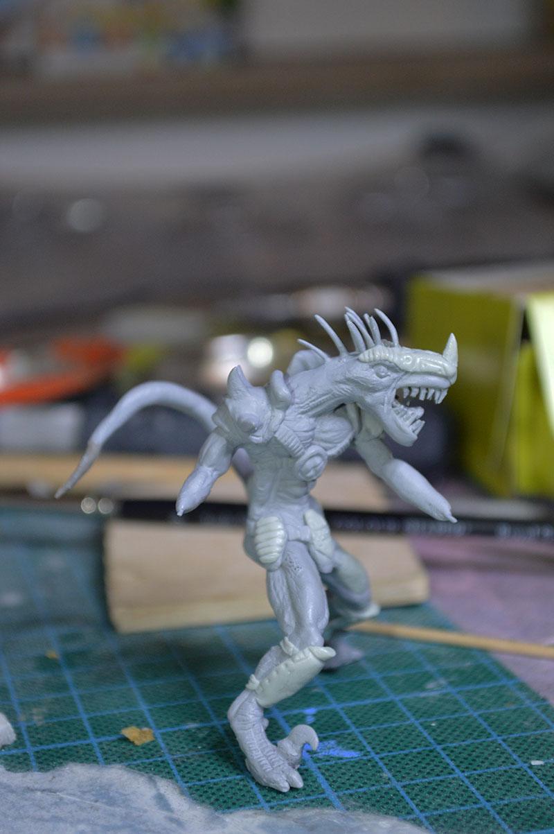 Mutant Velociraptor 6cm MiniSculpture54
