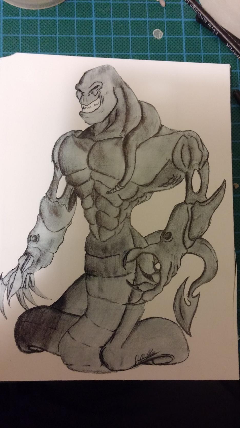 Du dessin à la sculpture MonstreSerpent04