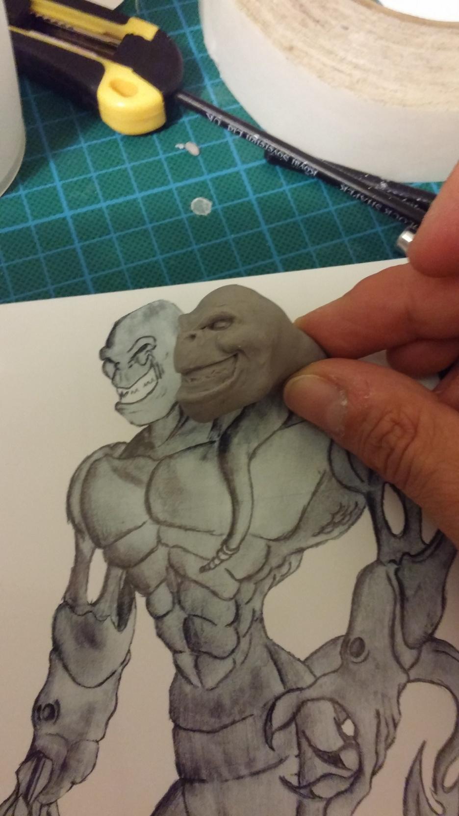 Du dessin à la sculpture MonstreSerpent05