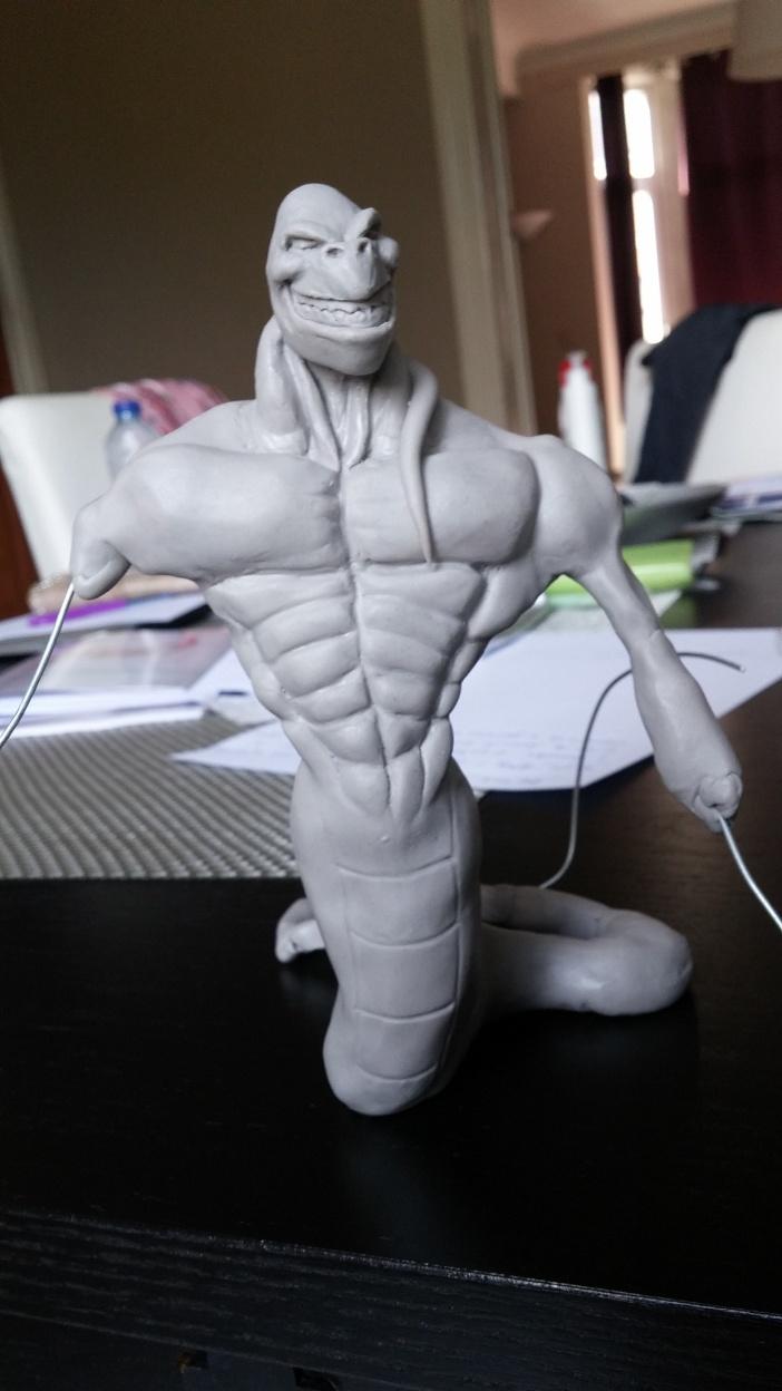 Du dessin à la sculpture MonstreSerpent21