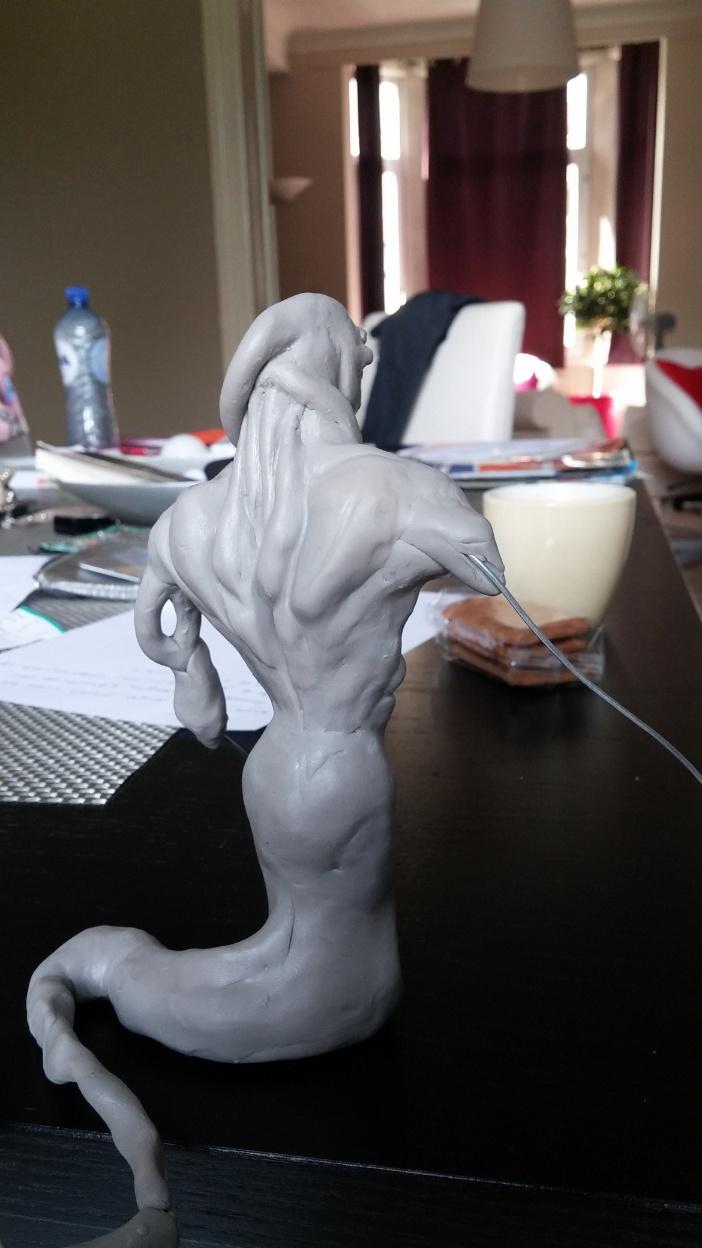 Du dessin à la sculpture MonstreSerpent22
