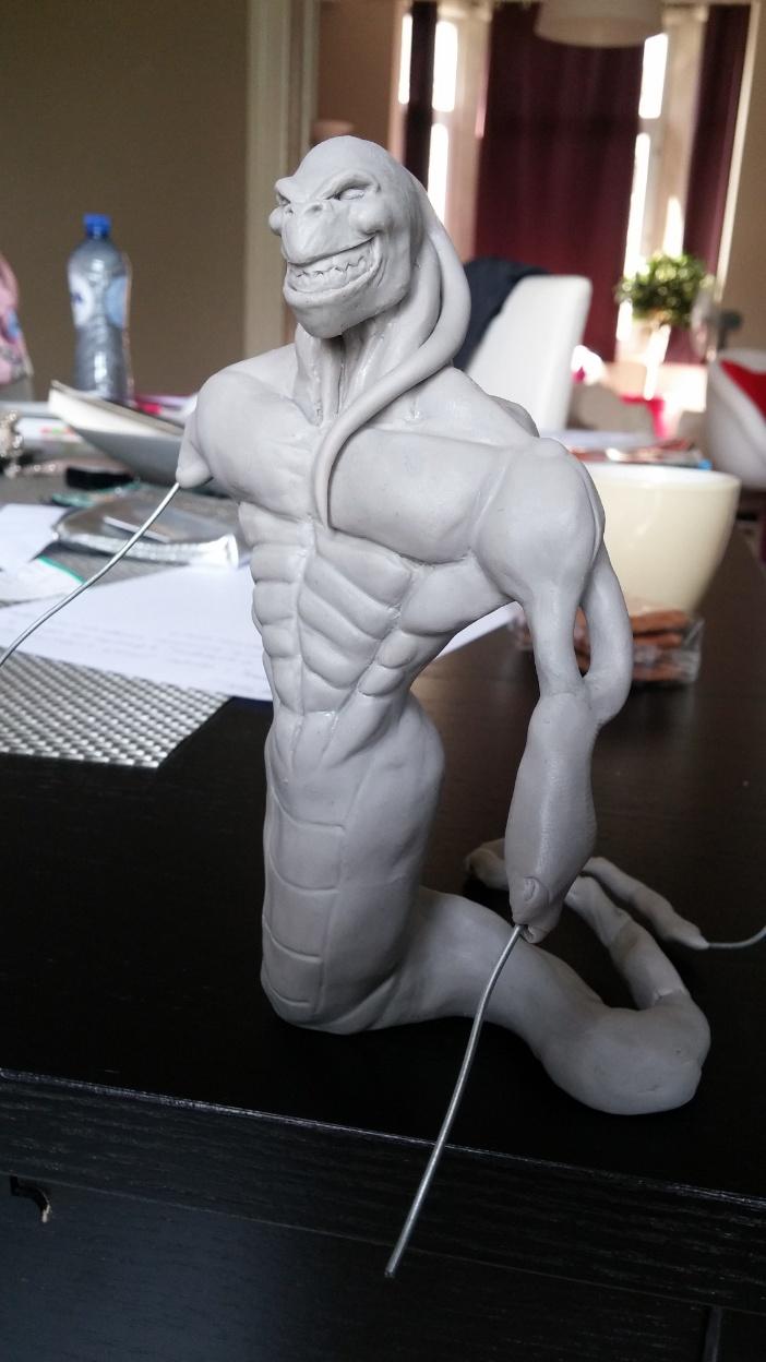 Du dessin à la sculpture MonstreSerpent24
