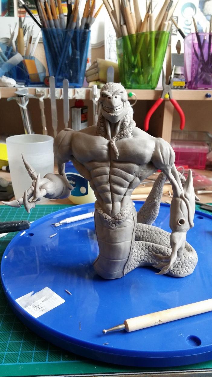 Du dessin à la sculpture MonstreSerpent37