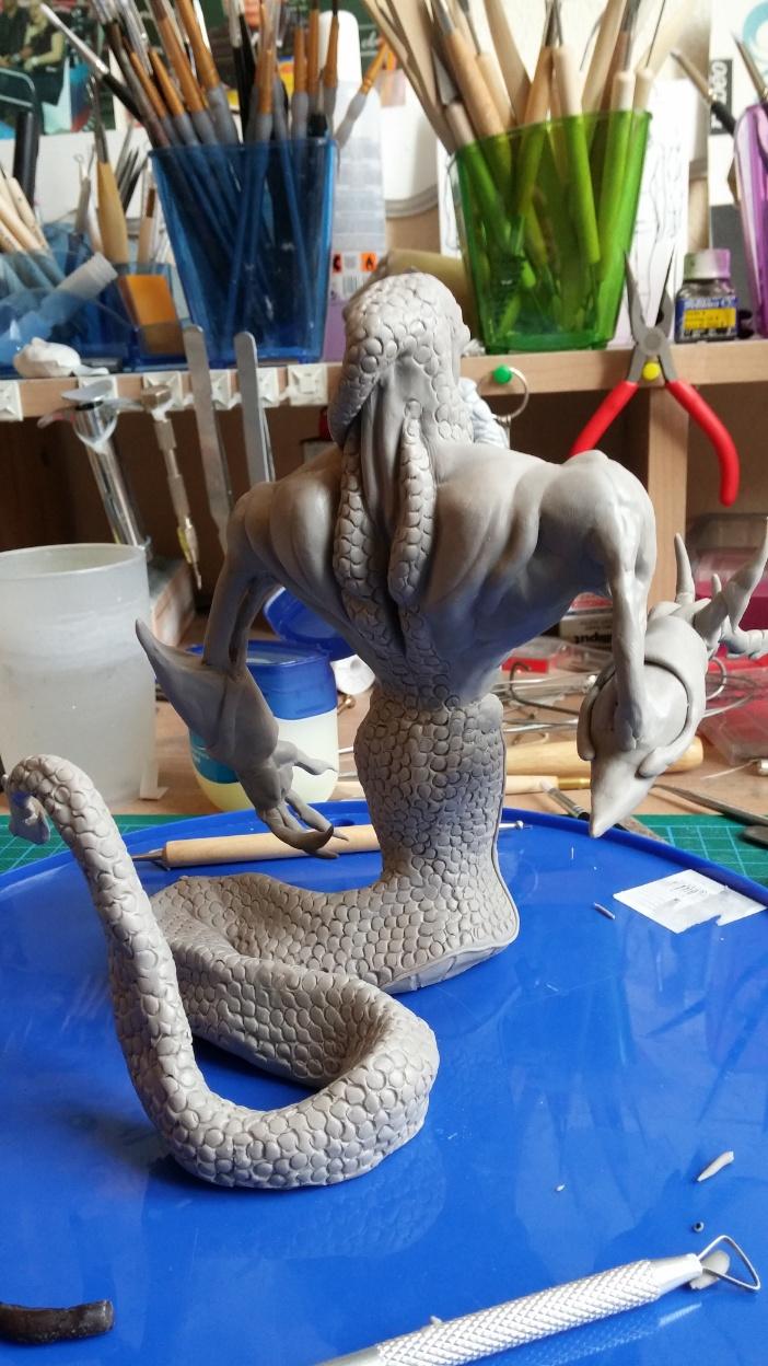 Du dessin à la sculpture MonstreSerpent40