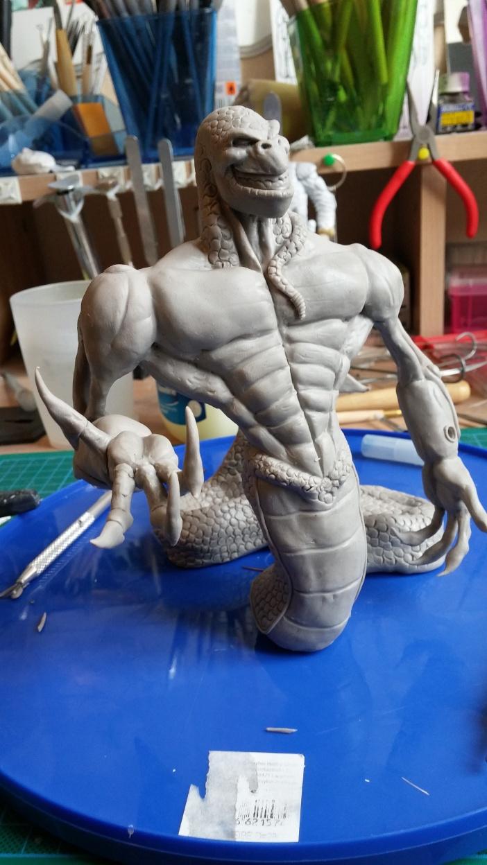 Du dessin à la sculpture MonstreSerpent42