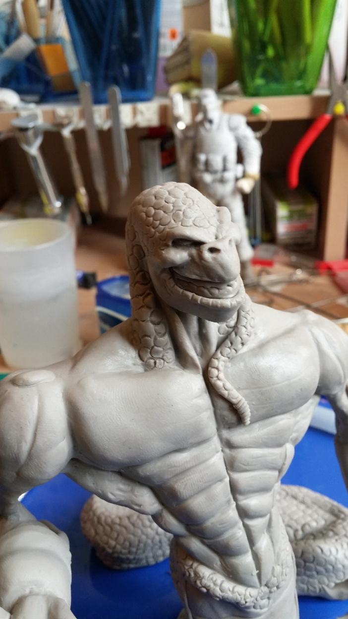 Du dessin à la sculpture MonstreSerpent44