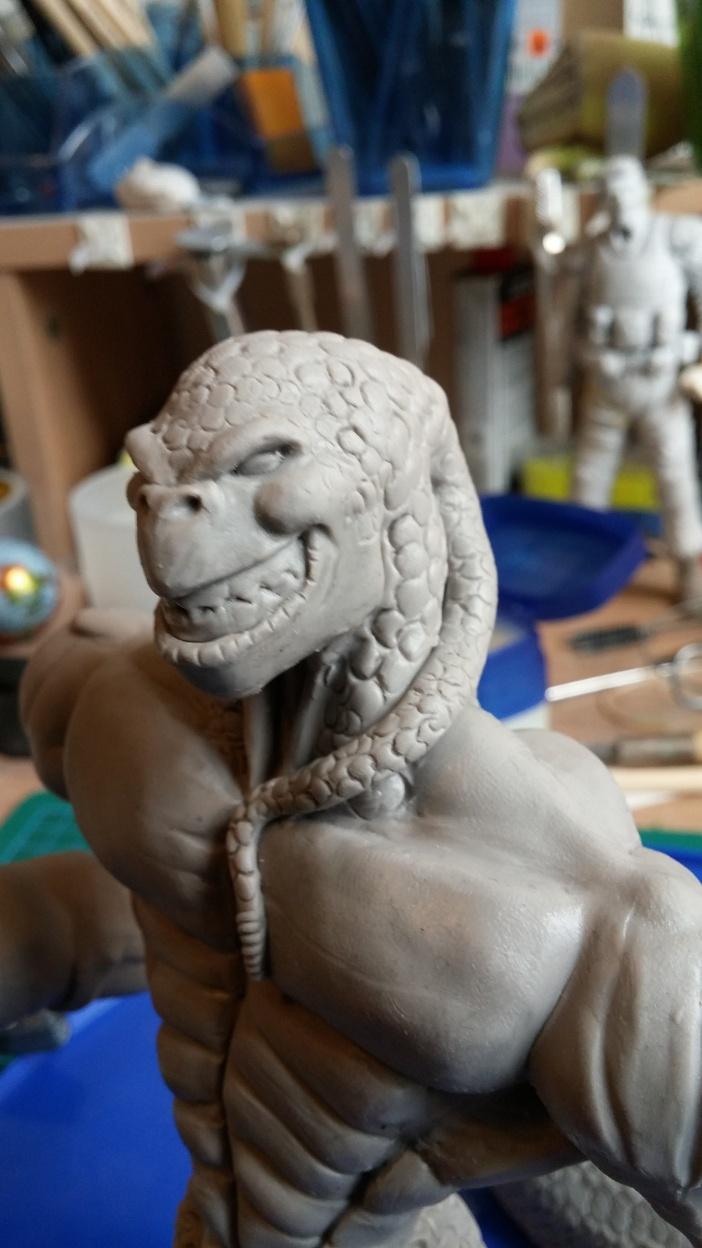 Du dessin à la sculpture MonstreSerpent45