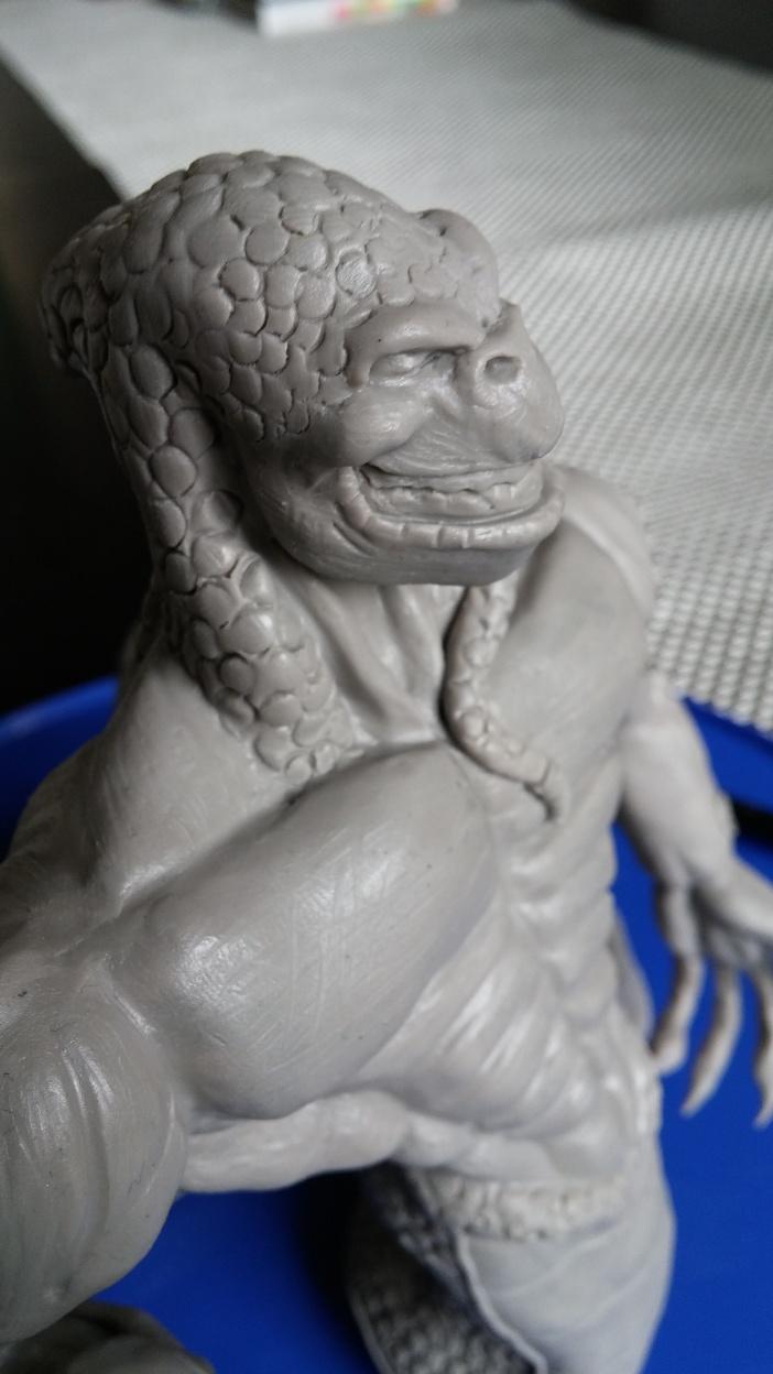 Du dessin à la sculpture MonstreSerpent50