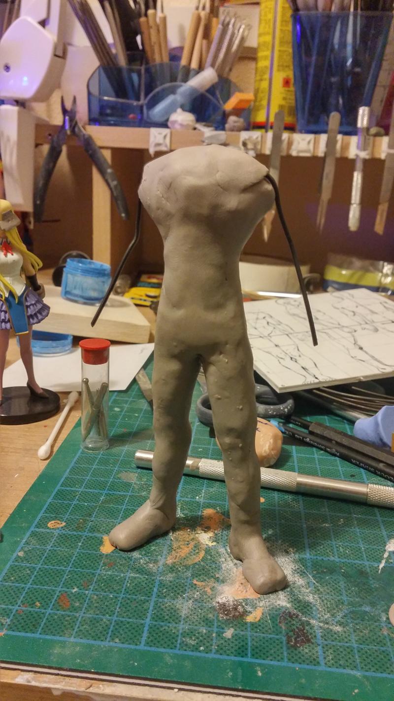 Sculpture guerrier Rage01