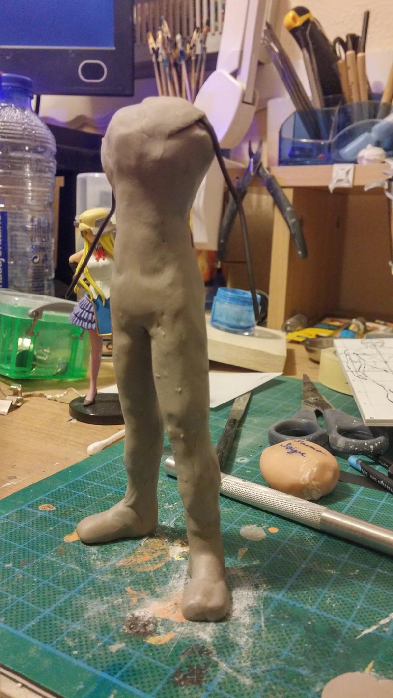 Sculpture guerrier Rage02