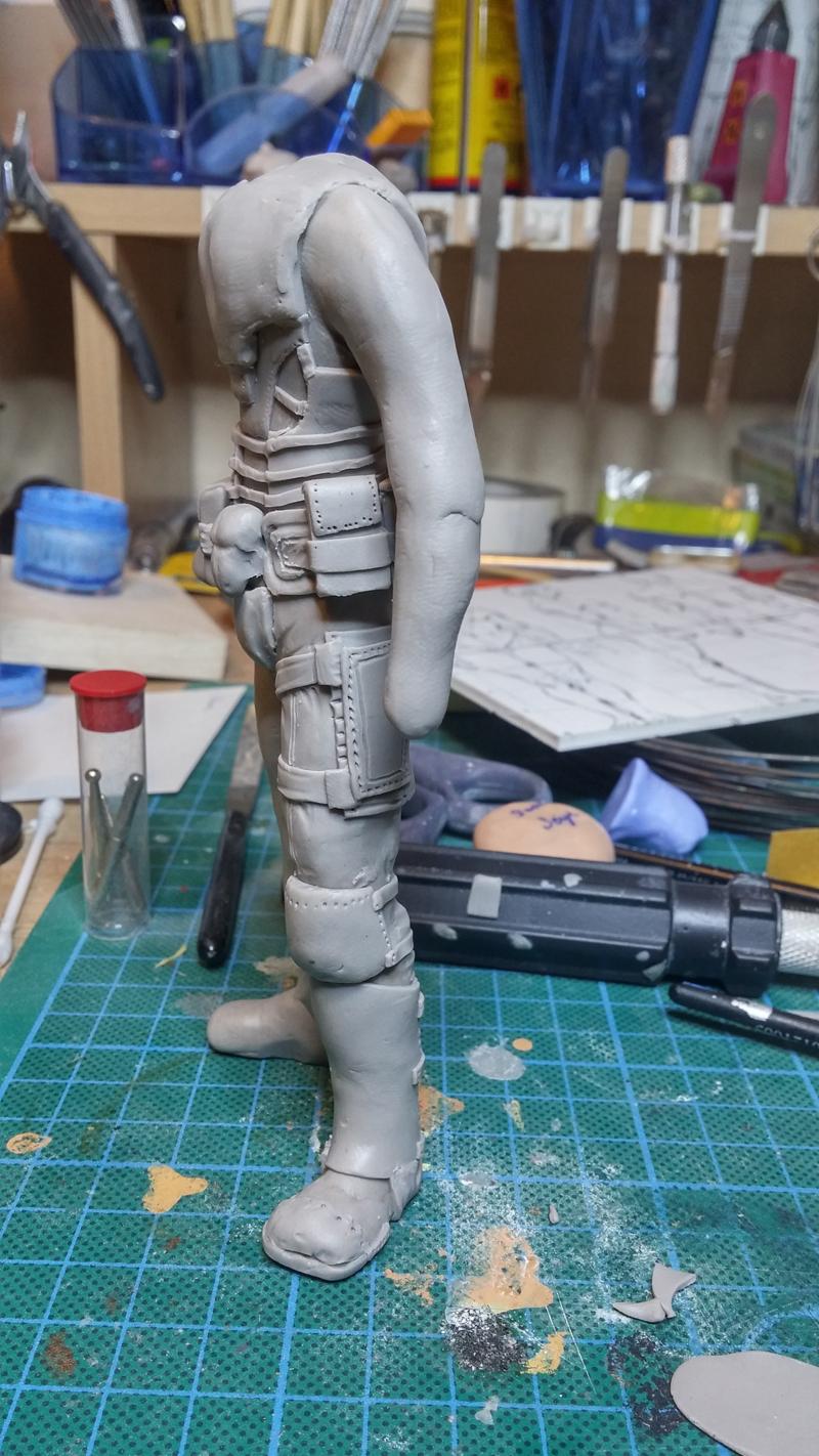 Sculpture guerrier Rage05
