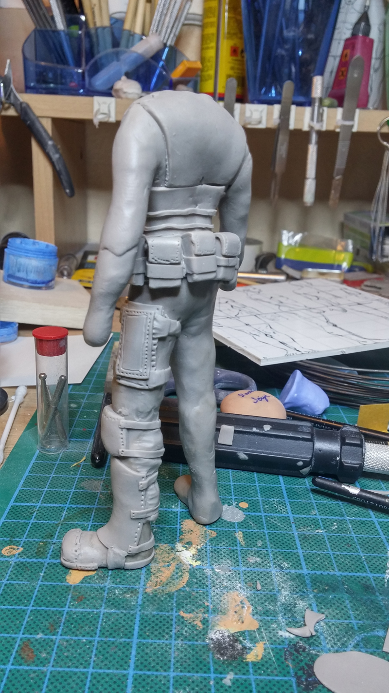 Sculpture guerrier Rage06