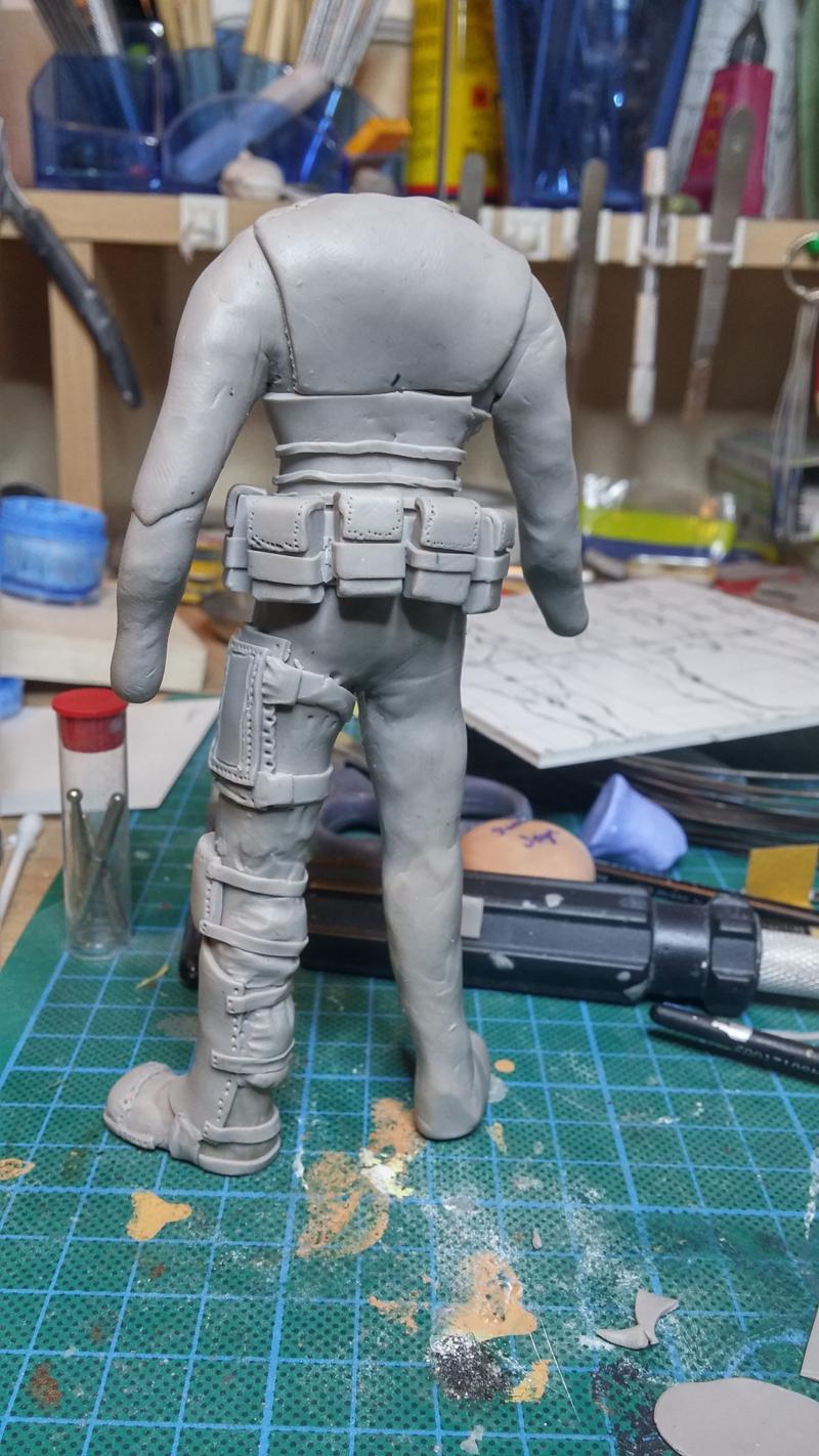 Sculpture guerrier Rage07