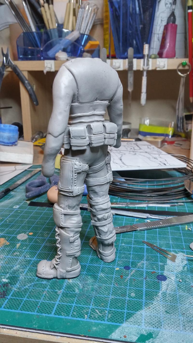 Sculpture guerrier Rage13
