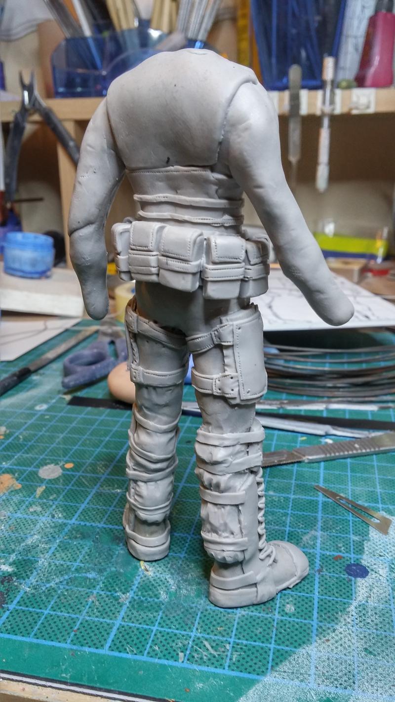 Sculpture guerrier Rage14