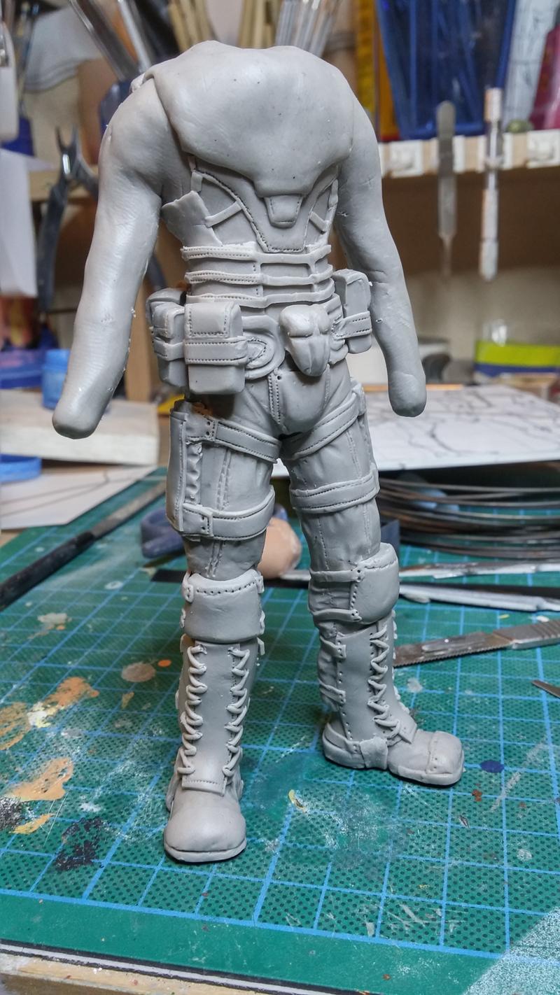 Sculpture guerrier Rage16