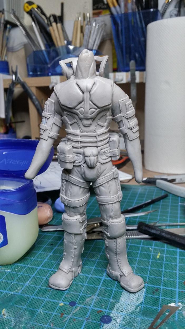 Sculpture guerrier Rage17
