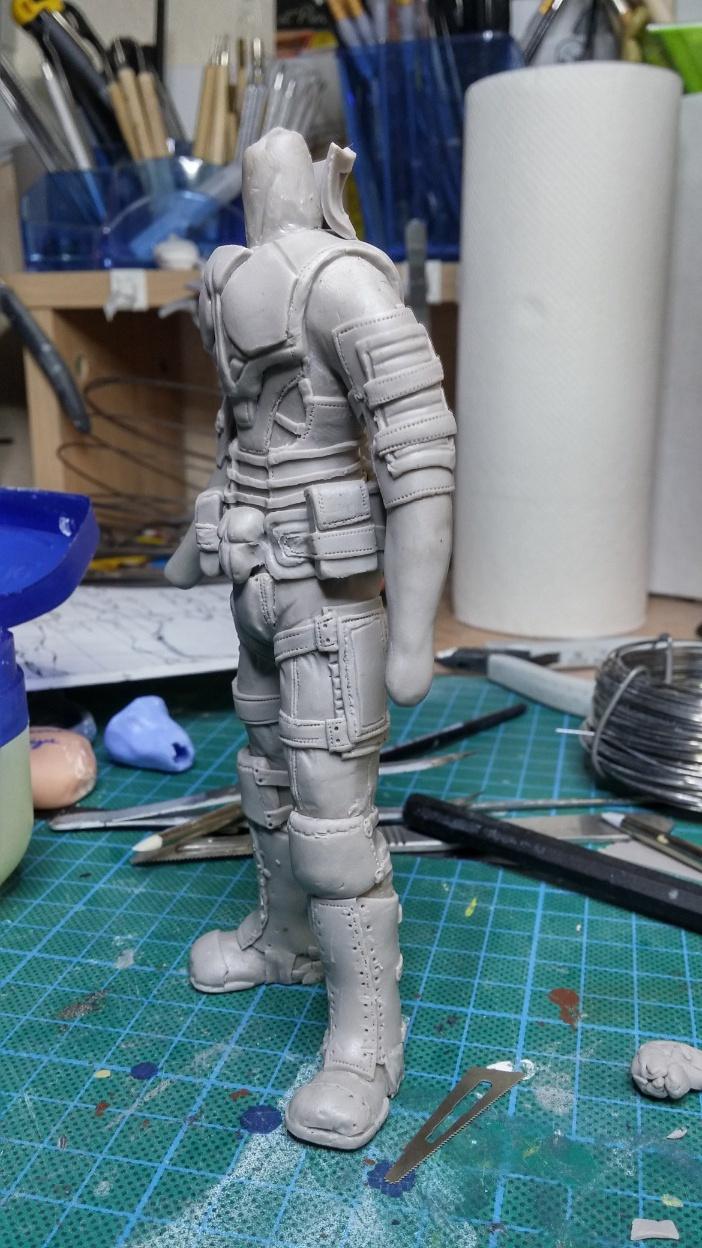 Sculpture guerrier Rage18