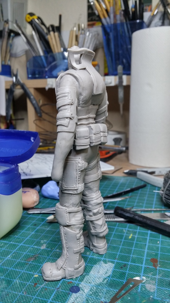 Sculpture guerrier Rage19