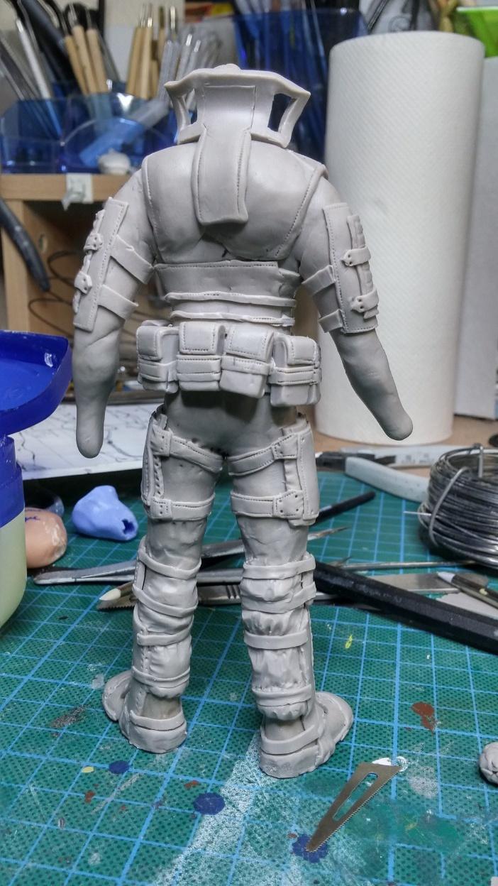 Sculpture guerrier Rage20