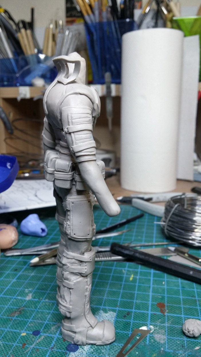 Sculpture guerrier Rage21