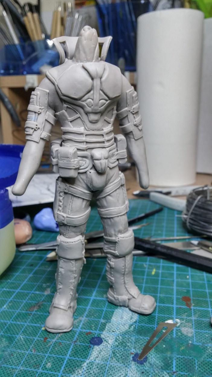 Sculpture guerrier Rage22