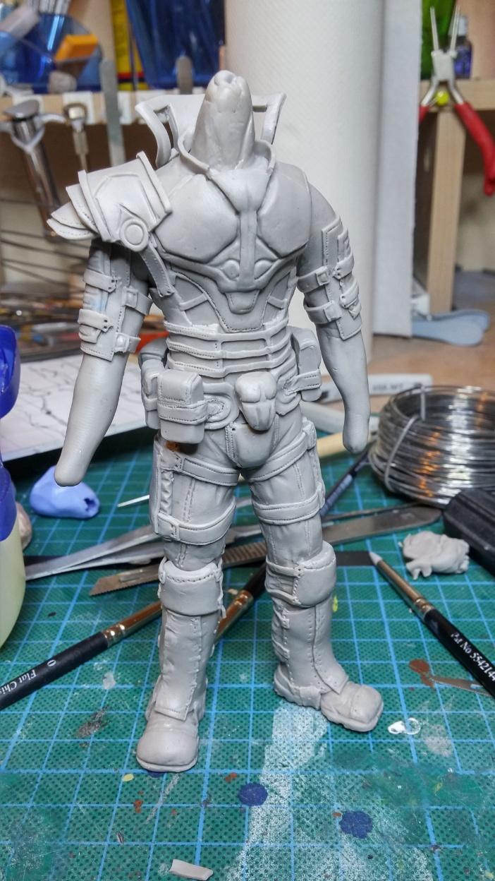 Sculpture guerrier Rage23