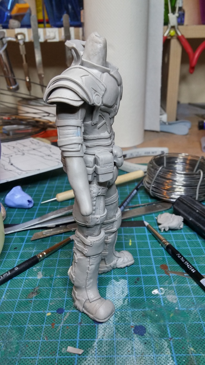 Sculpture guerrier Rage24