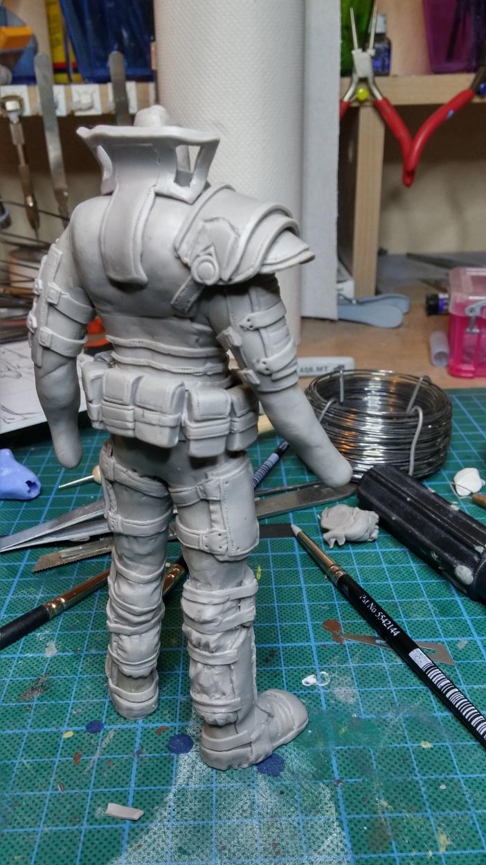 Sculpture guerrier Rage25