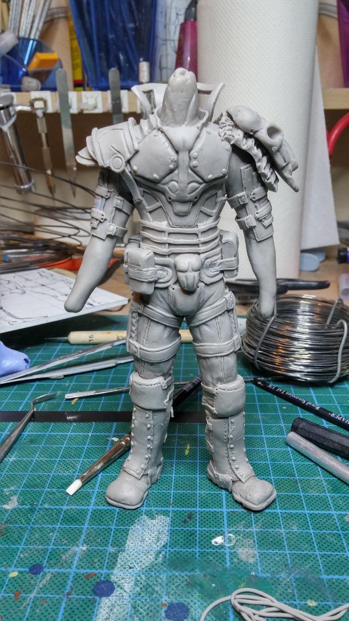 Sculpture guerrier Rage28