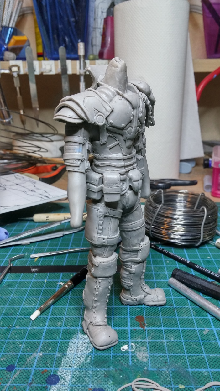 Sculpture guerrier Rage29